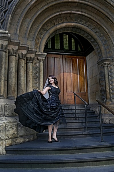 Black wedding dress-1